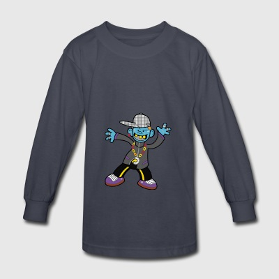 GANGSTA ZOMBIE - Kids' Long Sleeve T-Shirt