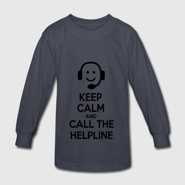 6061912 122552816 helpline - Kids' Long Sleeve T-Shirt