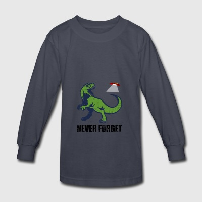 never forget ufo - Kids' Long Sleeve T-Shirt