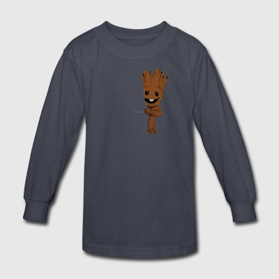 Hidden Groot Converted - Kids' Long Sleeve T-Shirt