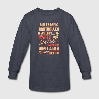 Air Traffic Controller Shirt - Kids' Long Sleeve T-Shirt
