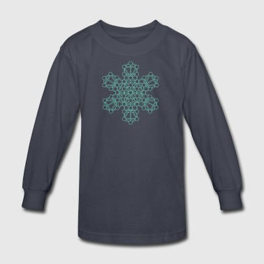 Psytrance Mandala - Kids' Long Sleeve T-Shirt