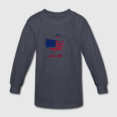 Forward Off A Cliff - Kids' Long Sleeve T-Shirt