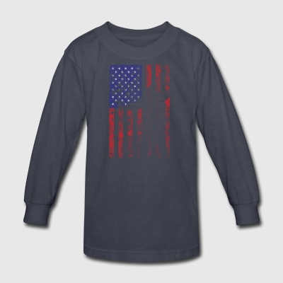 bow flag seperated2 - Kids' Long Sleeve T-Shirt