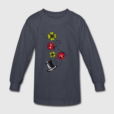 Silvester. Traditional german lucky charm symbols - Kids' Long Sleeve T-Shirt