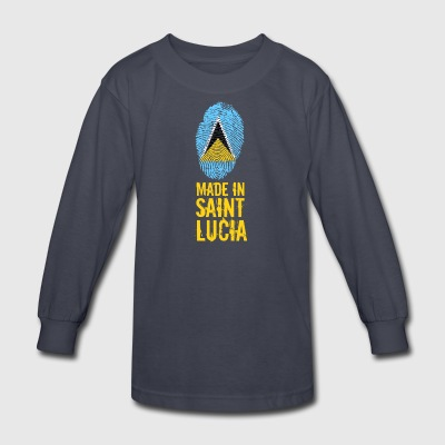 Made In Saint Lucia / St. Lucia - Kids' Long Sleeve T-Shirt