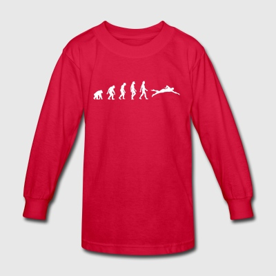 The Evolution Of Swimming - Kids' Long Sleeve T-Shirt