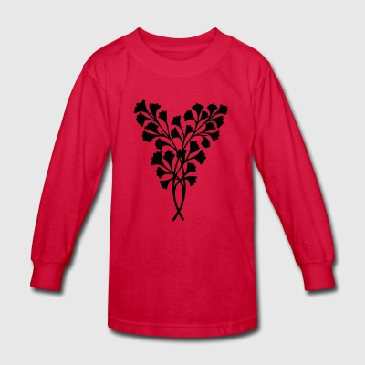 Leaves Decoration - Kids' Long Sleeve T-Shirt