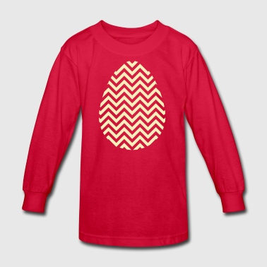 Gold Easter Egg Chevron - Kids' Long Sleeve T-Shirt