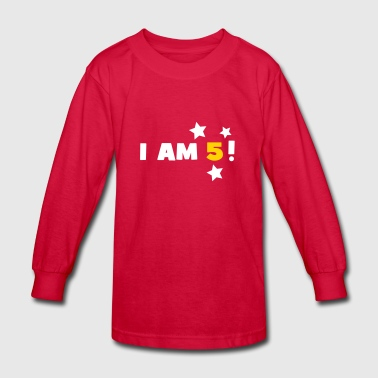 5th Birthday Shirts - Kids' Long Sleeve T-Shirt