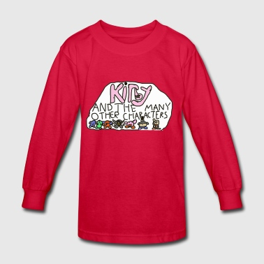 Kirby and the many other characters - Kids' Long Sleeve T-Shirt