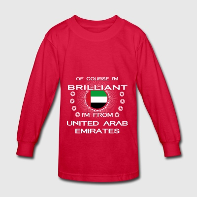 I AM GENIUS CLEVER BRILLIANT UNITED ARAB EMIRATES - Kids' Long Sleeve T-Shirt