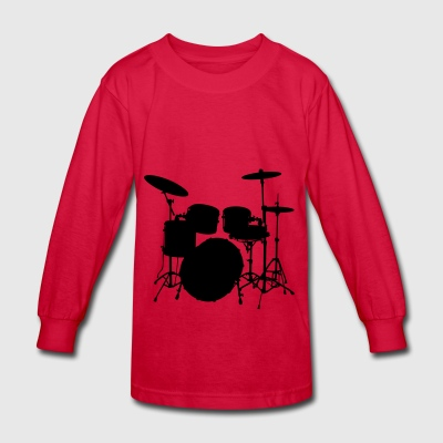 Drumkit - Kids' Long Sleeve T-Shirt