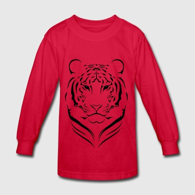 Wild tiger - Kids' Long Sleeve T-Shirt