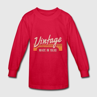 Vintage MADE IN 1938 - Kids' Long Sleeve T-Shirt