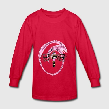 Twirling Dragon - Kids' Long Sleeve T-Shirt