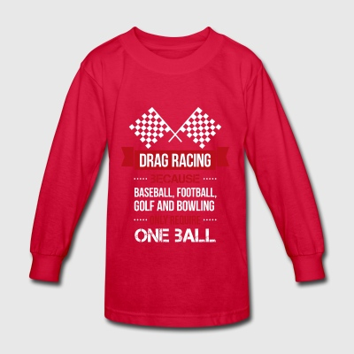 Drag racing t shirt - Kids' Long Sleeve T-Shirt