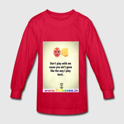 play back - Kids' Long Sleeve T-Shirt