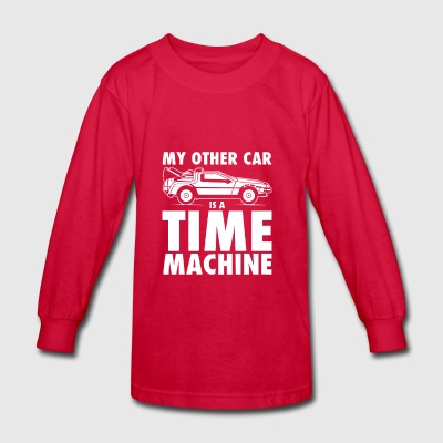 My Other Car Is A Time Machine - Kids' Long Sleeve T-Shirt