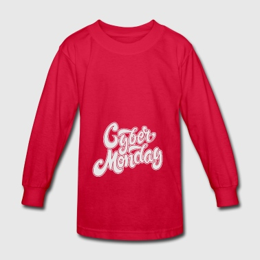 Cyber Monday Hand Drawn - Kids' Long Sleeve T-Shirt