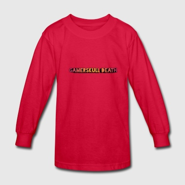 Gamerskull death video company - Kids' Long Sleeve T-Shirt
