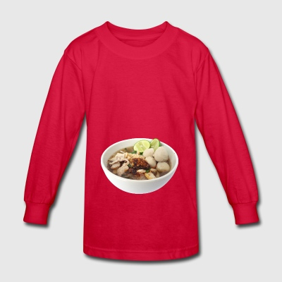 suppe eintopf soup bowl noodle kochen food8 - Kids' Long Sleeve T-Shirt