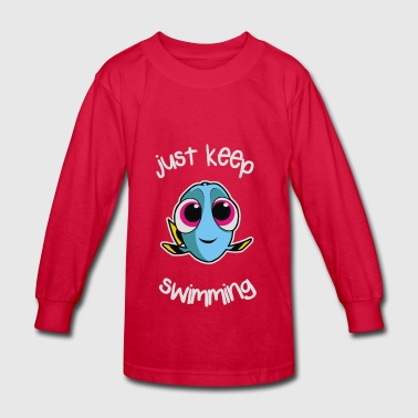 Just Keep Swimming - Kids' Long Sleeve T-Shirt