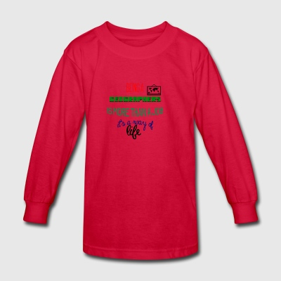 Being geographers - Kids' Long Sleeve T-Shirt