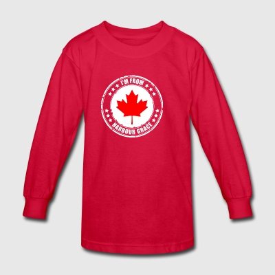 I'm from HARBOUR GRACE - Kids' Long Sleeve T-Shirt