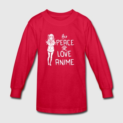 Peace Love ANIME - Kids' Long Sleeve T-Shirt