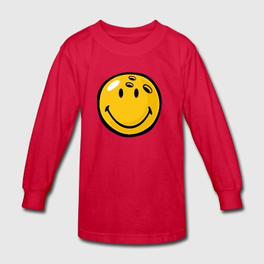 SmileyWorld Smiling Bowling Ball - Kids' Long Sleeve T-Shirt