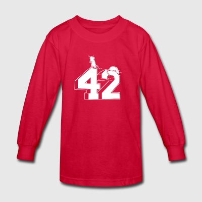 Forty Two - Kids' Long Sleeve T-Shirt