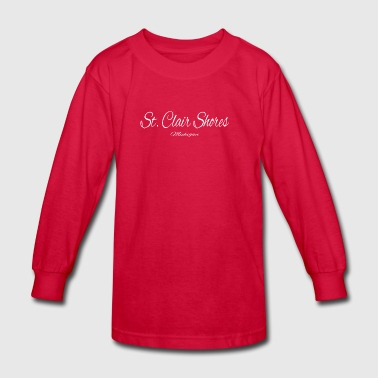 Michigan St Clair Shores US DESIGN EDITION - Kids' Long Sleeve T-Shirt