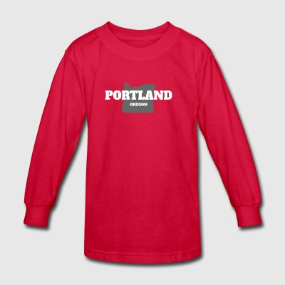 OREGON PORTLAND US STATE EDITION - Kids' Long Sleeve T-Shirt
