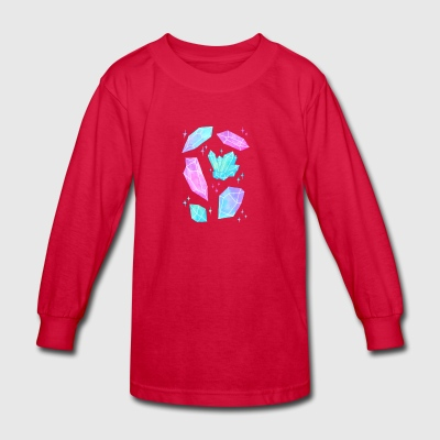 Pastel Watercolor Crystals - Kids' Long Sleeve T-Shirt