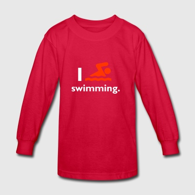 Swimming - Kids' Long Sleeve T-Shirt