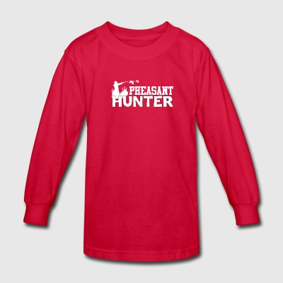 Pheasant Hunter Cool Pheasant Hunter Shirt - Kids' Long Sleeve T-Shirt