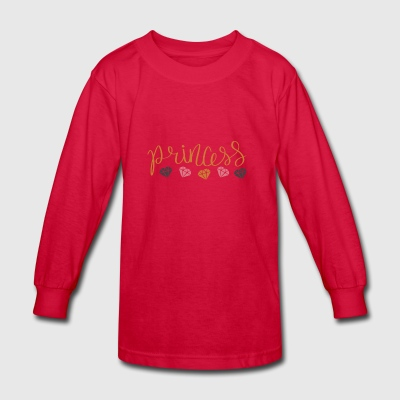 princess logo - Kids' Long Sleeve T-Shirt