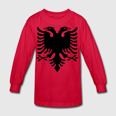 Albanian Eagle design - Kids' Long Sleeve T-Shirt
