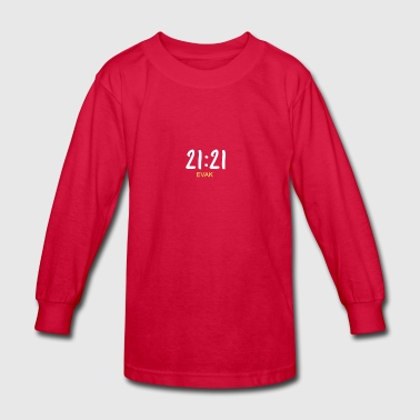 21:21 EVAK TEXT SKAM - Kids' Long Sleeve T-Shirt