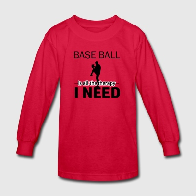 baseball design - Kids' Long Sleeve T-Shirt