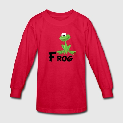 Cartoon Frog - Kids' Long Sleeve T-Shirt