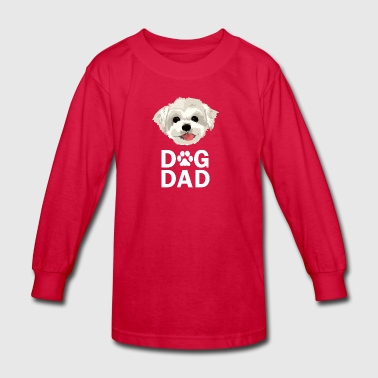 Dog Dad Maltese Funny Fathers Day Gift Paw - Kids' Long Sleeve T-Shirt