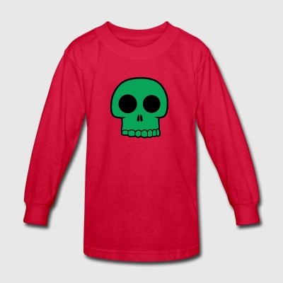Green Skull - Kids' Long Sleeve T-Shirt