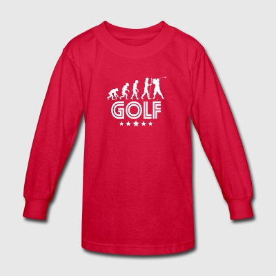 Retro Golf Evolution - Kids' Long Sleeve T-Shirt