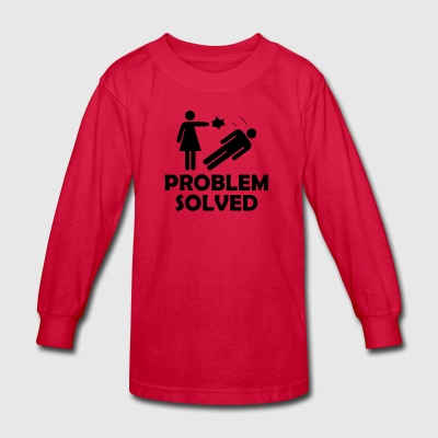 Problem Solved Funny Girlfriend / Wife Tee Shirt - Kids' Long Sleeve T-Shirt