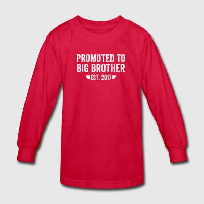 promoted to big brother est 2017 - Kids' Long Sleeve T-Shirt