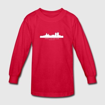 Amsterdam Netherlands Skyline - Kids' Long Sleeve T-Shirt