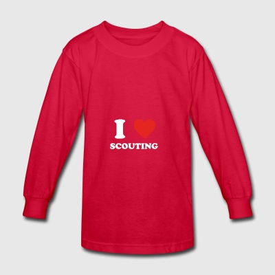 hobby gift birthday i love SCOUTING - Kids' Long Sleeve T-Shirt