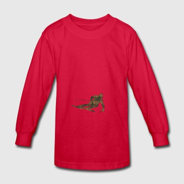 Rust Ski - Kids' Long Sleeve T-Shirt